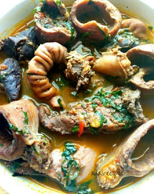cow organ meat pepper soup