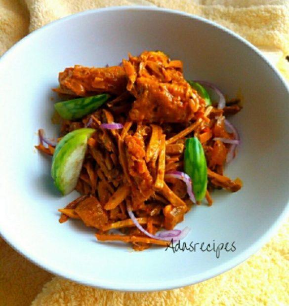 spicy shredded oil bean sauce (ugba)