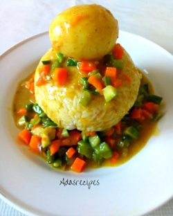 vegetable egg curry sauce
