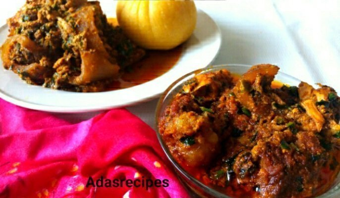Ugu Uziza Leaves Stir-Fried Egusi Soup Recipe | Ada's Recipes