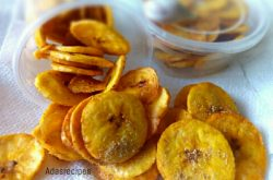 Homade Spicy Plantain Chips recipe