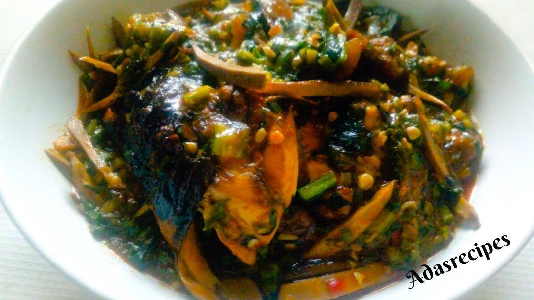Ofe Ugba(shredded oil bean soup)