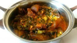 Okro soup with Ogbono