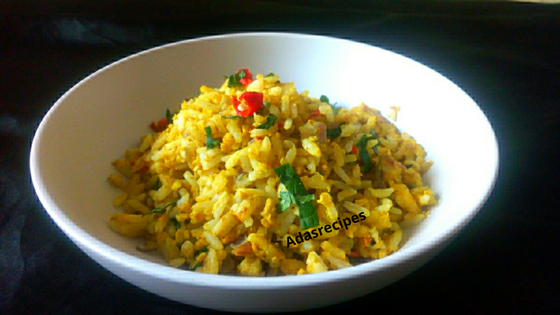 Nigerian egg fried rice